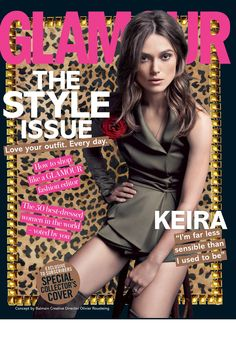 Actress Keira Knightley wears a look from Balmain on the November cover of Glamour UK. Of course, the English beauty looks as gorgeous as ever in the shoot. Fashion Mag, Fashion Editor, All Fashion, Glamour Magazine Uk, Glamour Uk, Keira Knightley Hair, Olivier Rousteing, Balmain, Amazing Women