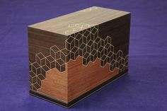 1997年 第44回日本伝統工芸展入選作品:浅井唐木 伝統的工芸品大阪唐木指物