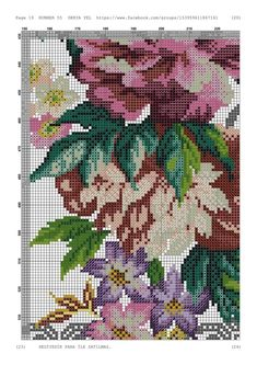 Cross Stitch Designs, Embroidery Stitches, Diagram, Map, Floral, Album, Table, Pink Tablecloth, Cross Stitch Embroidery