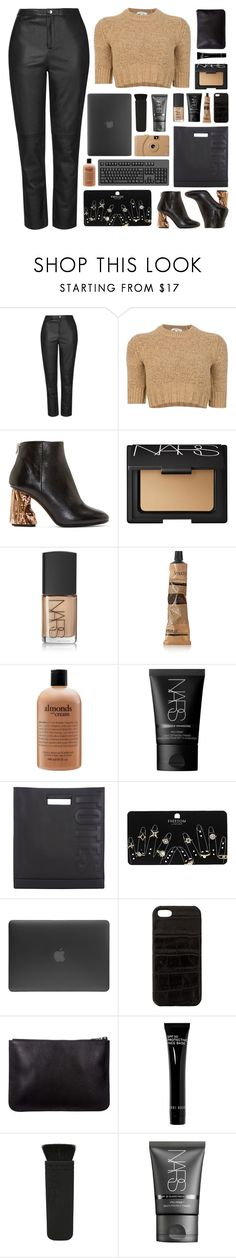 """""""i'm tired of watching the shadows on the wall"""" by acquiescence ❤ liked on Polyvore featuring Topshop, Carven, Acne Studios, NARS Cosmetics, Poketo, Aesop, philosophy, 3.1 Phillip Lim, Incase and The Case Factory"""
