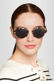 IllestevaMilan III acetate and metal round-frame sunglasses