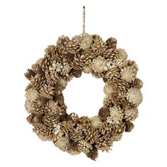 Sage & Co. Chateau Pinecone, Jewel, and Glitter Wreath