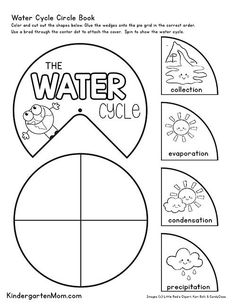 Free Water Cycle Printables for Kids. Create this free circle book. Free Water Cycle Printables for Kids. Create this free circle book. The post Free Water Cycle Printables for Kids. Create this free circle book. Earth Day Worksheets, Science Worksheets, Science Lessons, Worksheets For Kids, Kindergarten Worksheets, In Kindergarten, Water Cycle Worksheets, Water Cycle Craft, Water Cycle For Kids