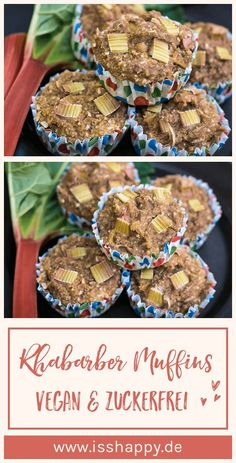 Simple recipe for super juicy vegan rhubarb muffins. Without industrial sugar or flours – wholesome & healthy! Simple recipe for super juicy vegan rhubarb muffins. Without industrial sugar or flours – wholesome & healthy! Healthy Baking, Easy Healthy Recipes, Veggie Recipes, Easy Meals, Vegetarian Lifestyle, Vegan Vegetarian, Vegetarian Recipes, Healthy Lifestyle, How To Become Vegan
