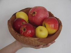 rustic kitchen decor big wooden bowl fruit tray hand turned plate wooden gift wooden kitchenware from solid wood gift card stylish wrapping - Wooden Plates, Wooden Bowls, Rustic Kitchen Decor, Linseed Oil, Wood Gifts, Best Christmas Gifts, Mother Gifts, Kitchenware, Tray