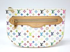 #LouisVuitton Pochette GM Pouch Monogram Multicolor White M60027(BF066590). Authenticity guaranteed, free shipping worldwide & 14 days return policy. Shop more preloved brand items at #eLADY: http://global.elady.com