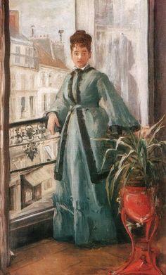 Eva Gonzalès - La femme en bleu