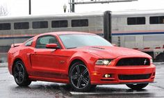 2013 Ford Mustang Review Red http://www.iseecars.com/review/Ford/Mustang/2013
