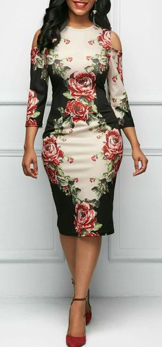 I love the design on this dress! #Africanfashion