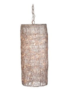 i really like this silver twinkle hanging lantern by lazy susan.  just enough light shines through $210