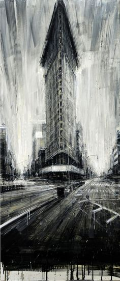 "Saatchi Art is pleased to offer the painting, ""Flat Iron,"" by Valerio D'Ospina. Original Painting: Oil on N/A. Illustration Arte, Art Graphique, Fine Art, Urban Landscape, Art Plastique, Amazing Art, Amazing Paintings, Awesome, Art Drawings"