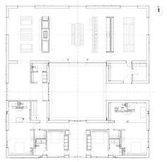 Baron House Sweden by John Pawson Plan