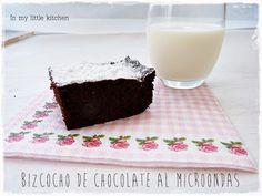In my little kitchen: Bizcocho de chocolate al microondas