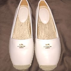 White Coach Espadrilles BNWOT Final Price! White Coach Espadrilles BNWOT Final Price! Coach Shoes Espadrilles