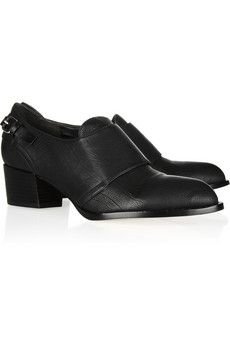 Emily textured-leather loafers by Alexander Wang