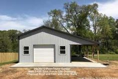 A collection of Pole Barns project photos shared by our customers Pole Barn Shop, Pole Barn Garage, Pole Barns, Carport Garage, Outdoor Buildings, Pole Buildings, Shop Buildings, Storage Buildings, Metal Shop Building