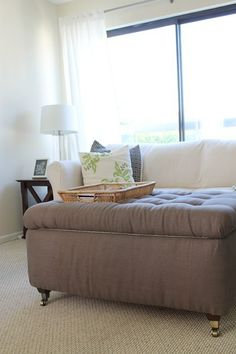 DIY Storage ottoman | DIY Ottoman Ideas to Decorate Your Home  (Scroll way, way down.  Don't know if instructions are given, or not, but I like the idea and think it is quite do-able.)