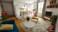Look at this fantastic living-romm, entirely made in 3D!