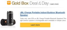 AMAZON $$ Gold Box Deal of the Day: Save 52% off JBL Charge Portable Bluetooth Speakers – TODAY Only (1/17)!