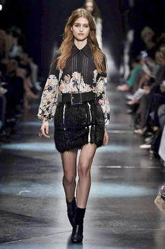 Roberto Cavalli Autumn/Winter 2015 | Fashion, Trends, Beauty Tips & Celebrity Style Magazine | ELLE UK Fall Winter, Autumn, Milano Fashion Week, Cat Walk, Roberto Cavalli, Runway, Punk, Beauty Tips, Celebrity Style