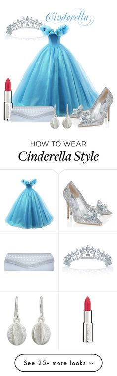 """Cinderella"" by inspiredby-beatrixpotter on Polyvore featuring moda, Bling Jewelry, Givenchy, GCGme, NOVICA, cinderella y fashionset"