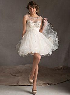 Bateau A-Line Ruffles Beadings Homecoming Dresses