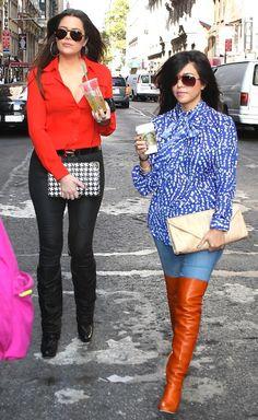 Khloe & Kourtney Kardashian.
