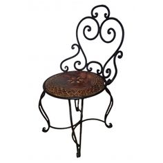 Komforts Wood And Wrought Iron Collection Chair