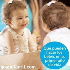 ¿Qué puede hacer el bebé durante el primer año de vida? Estas son sus habilidades mes a mes. http://www.guiainfantil.com/1431/el-primer-ano-del-bebe-y-su-relacion-con-el-entorno.html