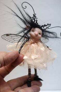 ooak poseable little BUG fairy with stinger 79 by DinkyDarlings