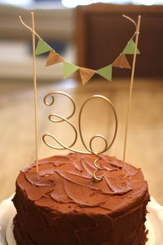 Number Cake Topper for Baby Tween Teen Birthday Party, Anniversary, Engagement Party Cake. $16.00, via Etsy.