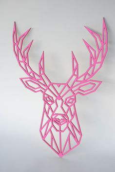 Animal Wooden Wall Art DEER Head Wall Decor / Wooden Sign If you are looking for a piece of art in y Wooden Wall Art, Wooden Walls, Wooden Signs, G Shaped Kitchen, Sign Materials, Decorative Mouldings, Home Decor Wall Art, Design Elements, Deer