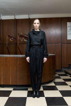 MEI KAWA   Huge Pleated Wool Trousers