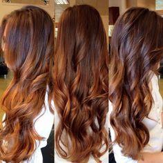 Loving my copper balayage! Loving my copper balayage! Copper Balayage Brunette, Auburn Hair Balayage, Balayage Color, Brunette Hair, Brown Balayage, Blonde Hair, Balayage Highlights, Onbre Hair, Hair Dos
