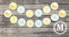 Printable BABY SHOWER BANNER - Rubber Duck
