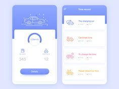 Auto record by Zero_Design Web Design, App Ui Design, Ui Design Mobile, Mobile Application Design, Interface Web, User Interface Design, Photoshop, App Design Inspiration, Ui Web