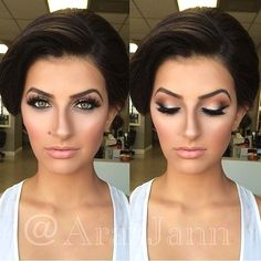 The Best Wedding Makeup Ideas For Brides, Bridesmaids, And The Entire Bridal Par. - - The Best Wedding Makeup Ideas For Brides, Bridesmaids, And The Entire Bridal Par. Summer Wedding Makeup, Wedding Makeup Tips, Natural Wedding Makeup, Bride Makeup, Hair Wedding, Natural Makeup, Wedding Nails, Hair Makeup, Summer Makeup