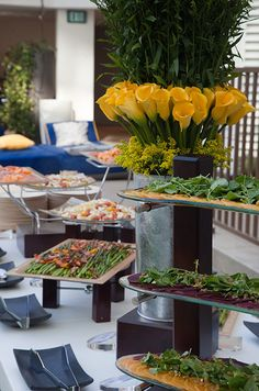Wedding Food, Wedding Food Ideas, Wedding Reception Food Ideas, Buffet Food || Colin Cowie Weddings