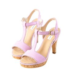 Grace giftGrace gift 官方購物網站 - T字鏤空軟木高跟涼鞋