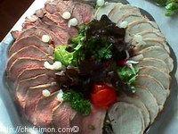 buffet de viandes froides