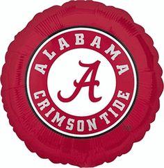 Alabama Crimson Tide 18-inch Round Crimson Foil NCAA College Balloon $3.50