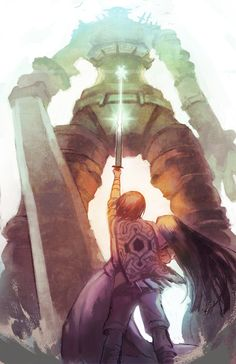 wander shadow of the colossus mono tenfiends Chuck Norris, Nostalgic Art, Last Shadow, Tattoo Project, Creature Drawings, Movie Poster Art, Video Game Art, Anime, Art Music