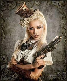 steampunk girl fantasy womens fashion
