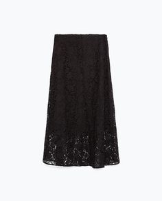 ZARA - COLLECTION AW15 - MIDI LENGTH LACE SKIRT