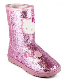 Look what I found on #zulily! Hello Kitty Pink Tiffany Boot by Hello Kitty #zulilyfinds