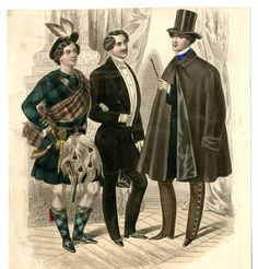 1855 L'Elegant fancy-dress Scotsman!