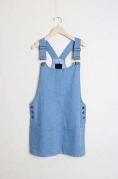 denim suspender mini ops