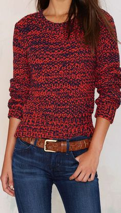 Chunky knit sweater  classic❤❤