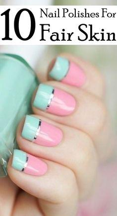 Top 10 Nail Polishes For Fair Skin