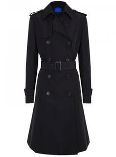 Winser London polyester trench coat Button fastening epaulettes and cuffs, storm flap, two front pockets, detachable buckle fastening waist belt, fully lined Double-breasted button fastenings through front - See more at: http://www.harveynichols.com/womens-1/categories/designer-coats/trench/s474935-belted-trench-coat.html?colour=BLACK#sthash.oCZRSYX1.dpuf